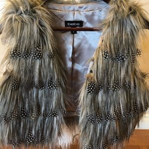 Bebe Faux Fur Vest (never worn)